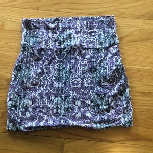 Purple white and dark blue skirt from Nordstrom